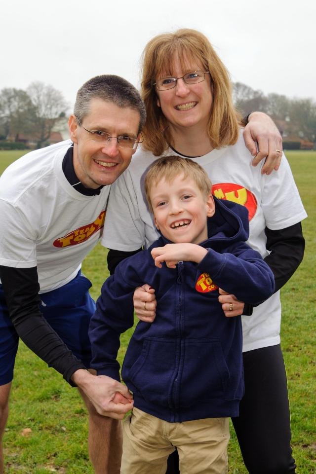 Runners will raise money for seriously ill Toby Dobson from Chandler's Ford at Romsey Relay Marathon