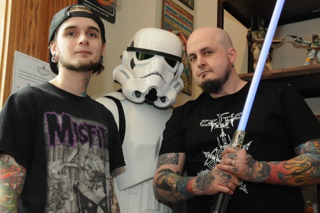 Summerside tattoo shop working for charity on Star Wars Day