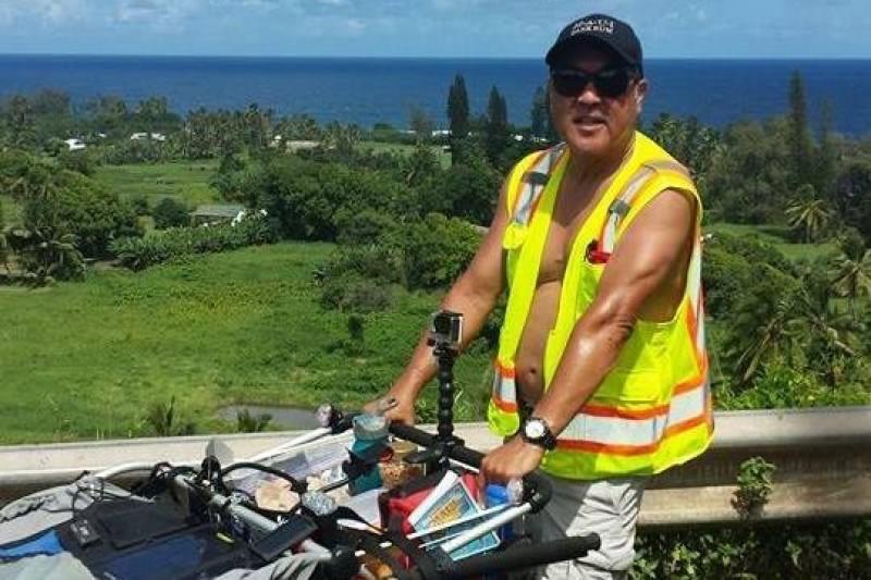Maui man walking around entire island for charity